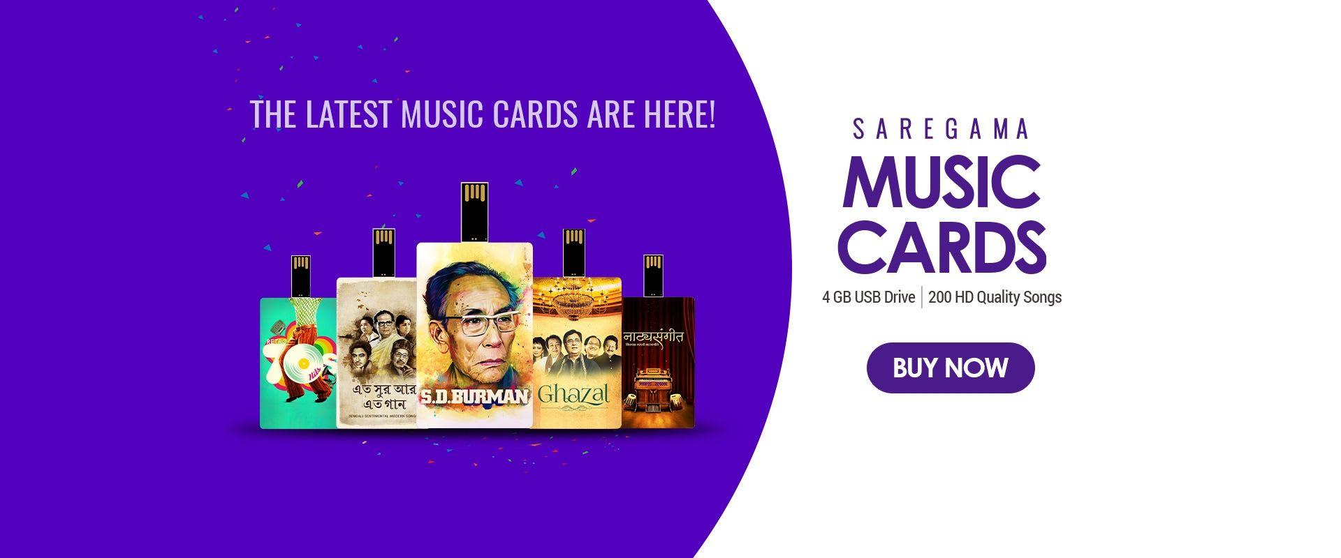 Music Card - 200 Songs, 50 + Artiste