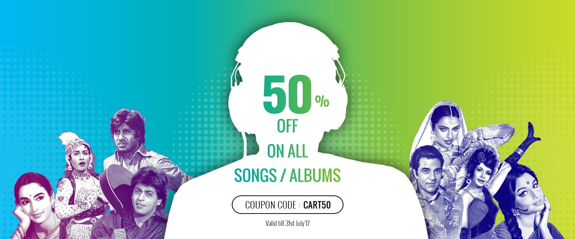 50% Off On All Songs