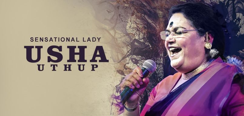 Sensational Lady Usha Uthup