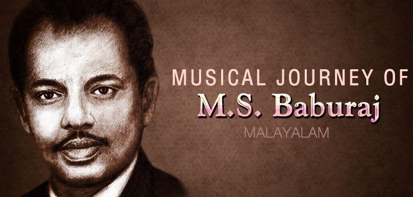 Musical Journey of M.S. Baburaj
