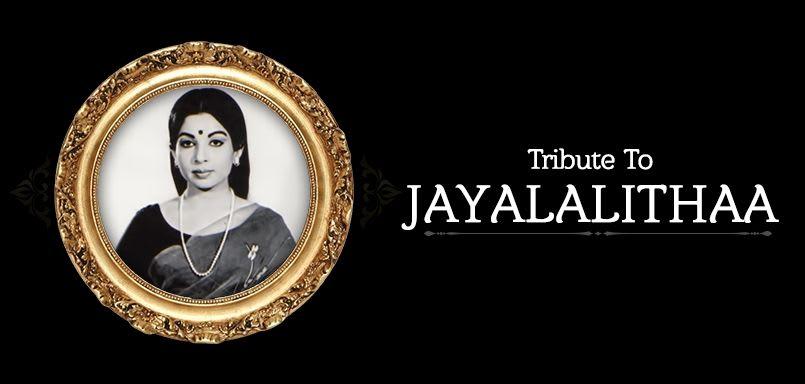 Tribute To Jayalalithaa