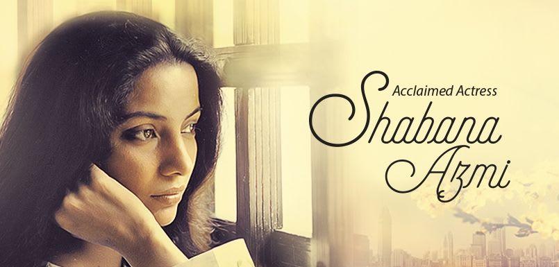 Acclaimed Actress Shabana Azmi