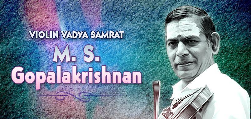 Violin Vadya Samrat - M.S. Gopalakrishnan