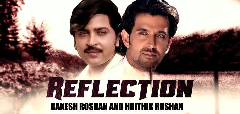 Reflection Rakesh Roshan & Hrithik Roshan