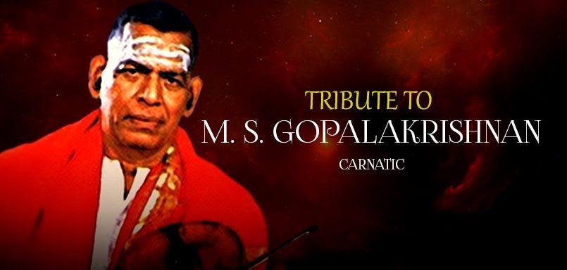 Tribute to M.S. Gopalakrishnan
