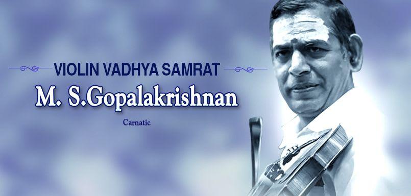 Violin Vadhya Samrat- M.S.Gopalakrishnan